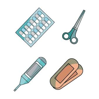 Zestaw medyczny z narzędziami pierwszej pomocy