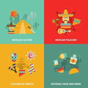 Zestaw meksykański ikony
