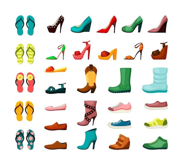 Zestaw męskich butów damskich