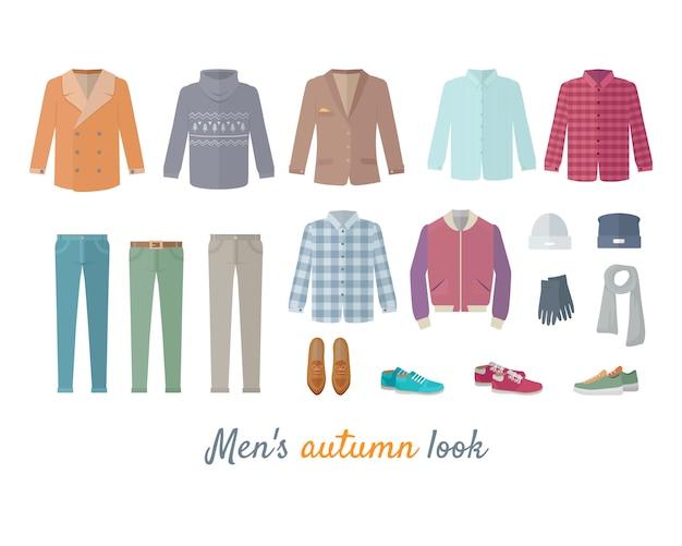 Zestaw męskiej odzieży jesiennej