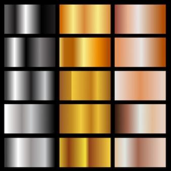 Zestaw metalicznych gradientów