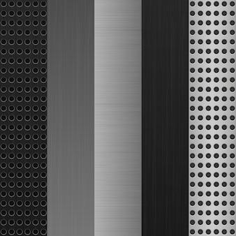 Zestaw metalowy tekstura tło