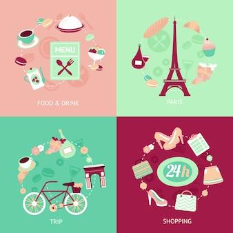 Zestaw miasto paryż