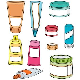 Zestaw miejscowych leków kosmetycznych i miejscowych