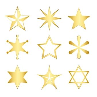 Zestaw mieszanych gwiazd wektor