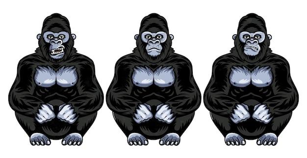 Zestaw mimiki goryla