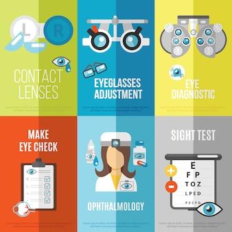 Zestaw mini plakatów okulistycznych
