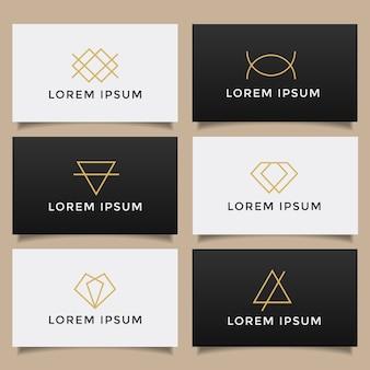 Zestaw minimalistycznej kolekcji prostych kreatywnych logo.