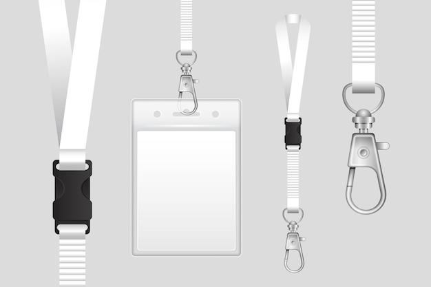 Zestaw minimalistycznej realistycznej papeterii z dowodem osobistym