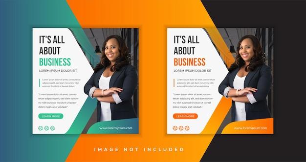 Zestaw minimalistyczny baner biznesowy