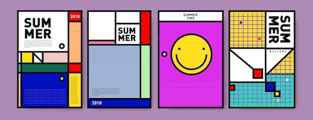 Zestaw minimalistyczny lato memphis