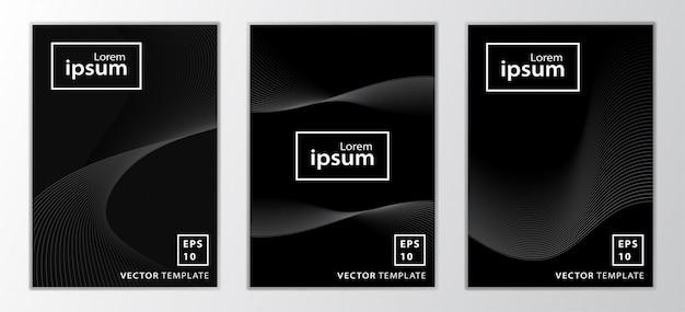 Zestaw minimalistyczny projekt okładki broszury biznesowej