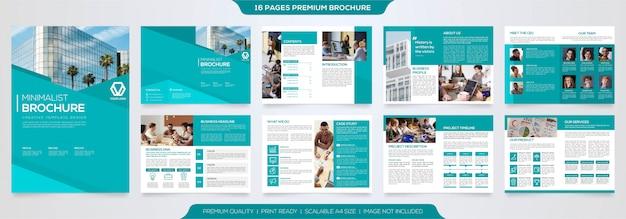Zestaw minimalistyczny prosty szablon broszury