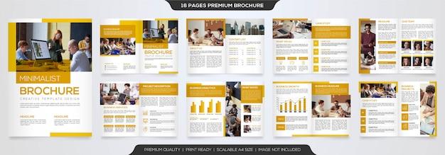 Zestaw minimalistyczny szablon broszury