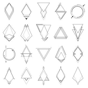 Zestaw minimalistycznych elementów geometrycznych