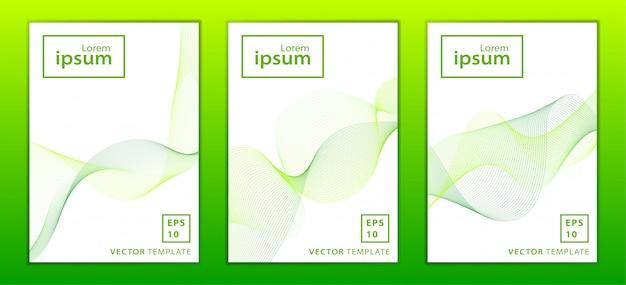 Zestaw minimalnej broszury biznesowej
