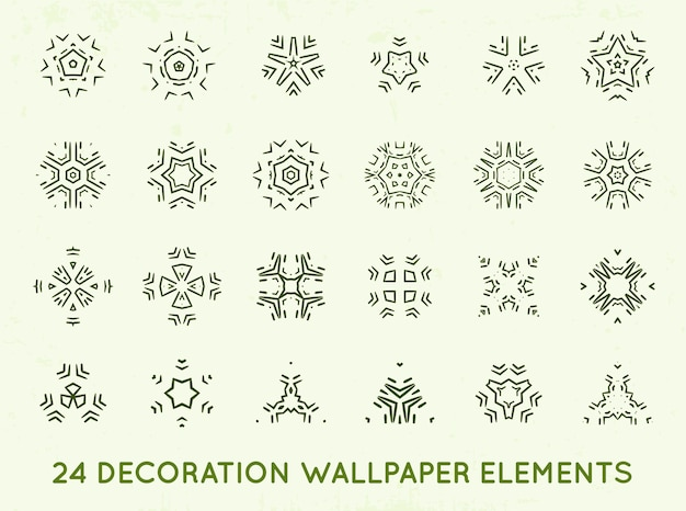 Zestaw minimalnych kształtów vintage dekoracji