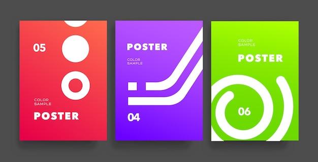 Zestaw minimalnych okładek. kompozycja kształtów geometrycznych. nowoczesne plakaty projektowe. ilustracja