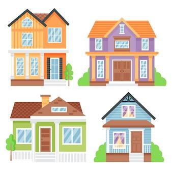 Zestaw minimalnych różnych domów