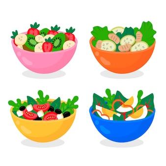Zestaw misek na owoce i sałatki
