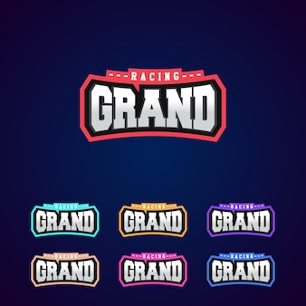 Zestaw moc pełnego wyścigu typografii logo emblemat projekt dla t-shirt