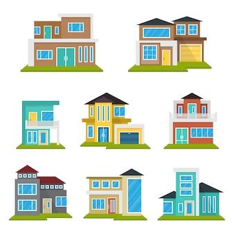 Zestaw modern house home real estate