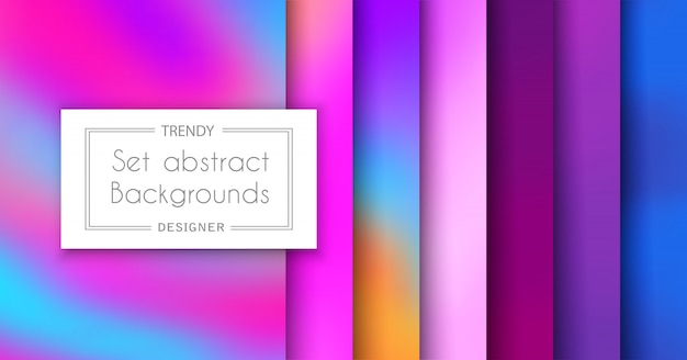 Zestaw modnych wzorów fioletowego ultrafioletu