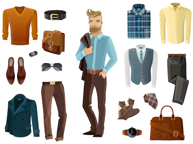 Zestaw mody mężczyzny