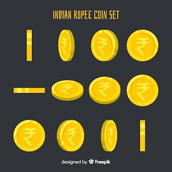 Zestaw monet rupia indyjska