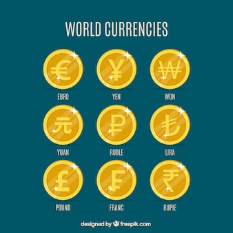 Zestaw monet świata