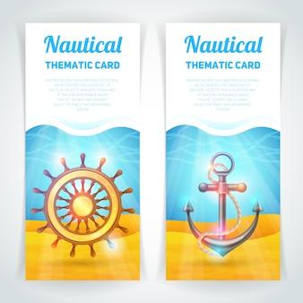 Zestaw morskich banerów