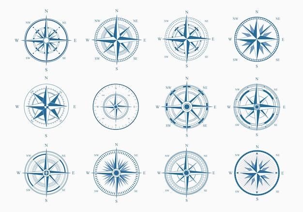 Zestaw morskiej róży wiatrów