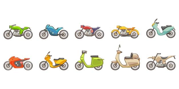 Zestaw motocyklowy kolekcja clipart