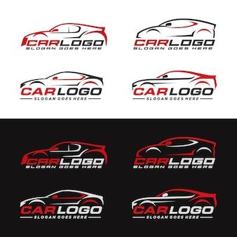 Zestaw motoryzacyjny, auto, szablon logo samochodu
