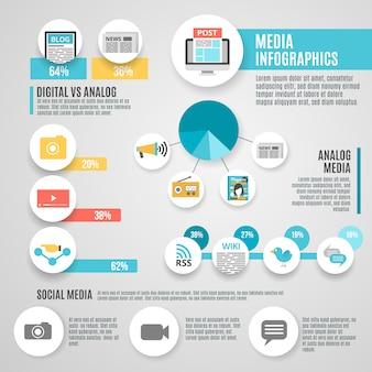 Zestaw multimedialny infographic