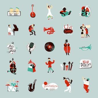 Zestaw muzyków jazzowych