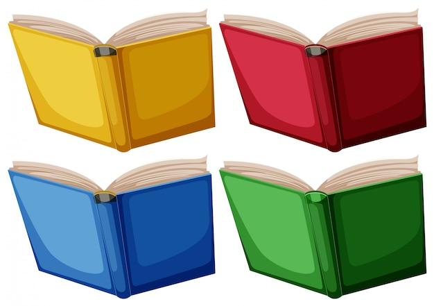 Zestaw na białym tle książki