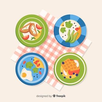 Zestaw naczyń żywności