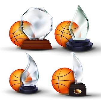 Zestaw nagród meczu koszykówki