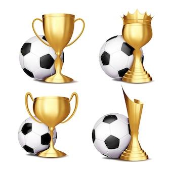 Zestaw nagród meczu piłki nożnej