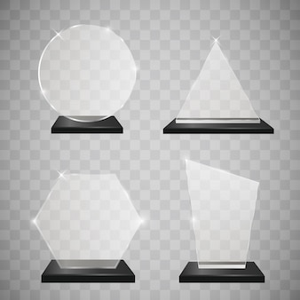 Zestaw nagród pustej szklanki trofeum