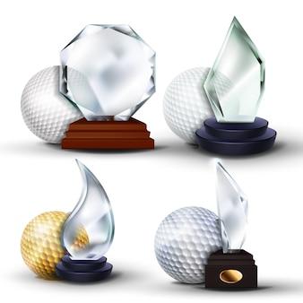 Zestaw nagród w grze w golfa