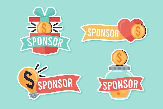 Zestaw naklejek kreatywnych sponsorów