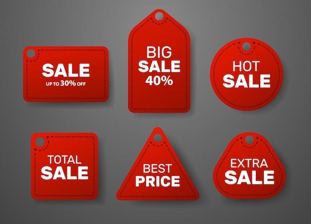 Zestaw naklejek sprzedaż do sklepu
