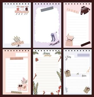 Zestaw naklejek świątecznych, dziennik, notatki,