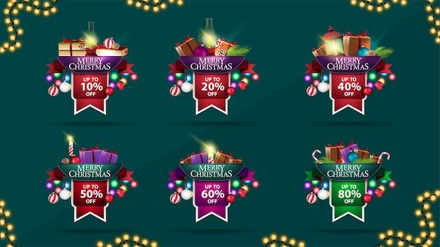 Zestaw naklejek świątecznych sprzedaży