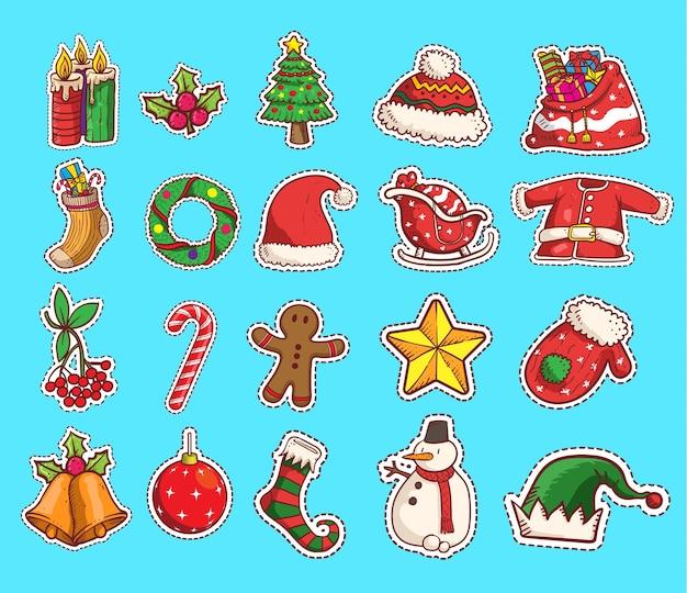 Zestaw naklejek świątecznych