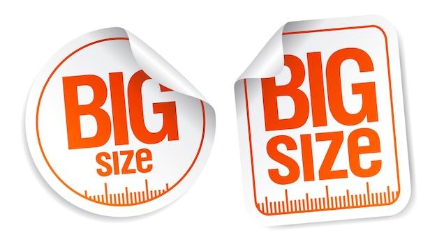 Zestaw naklejek wektorowych w dużym rozmiarze
