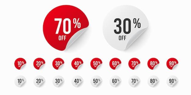 Zestaw naklejek z rabatem do 90%.