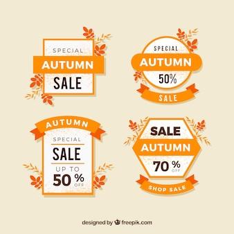 Zestaw naklejki sprzedaży jesienią